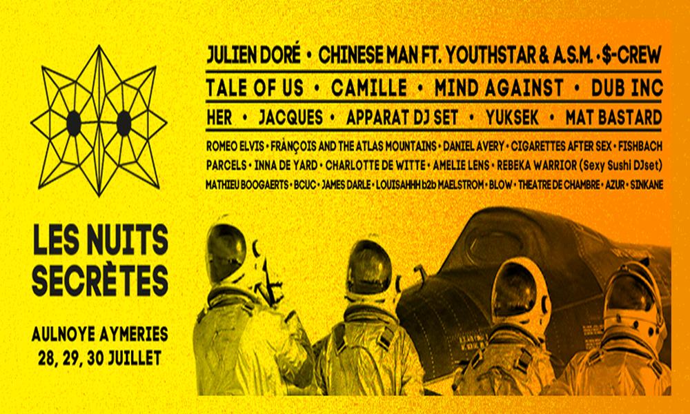 Affiche festival les nuits secrètes 2017