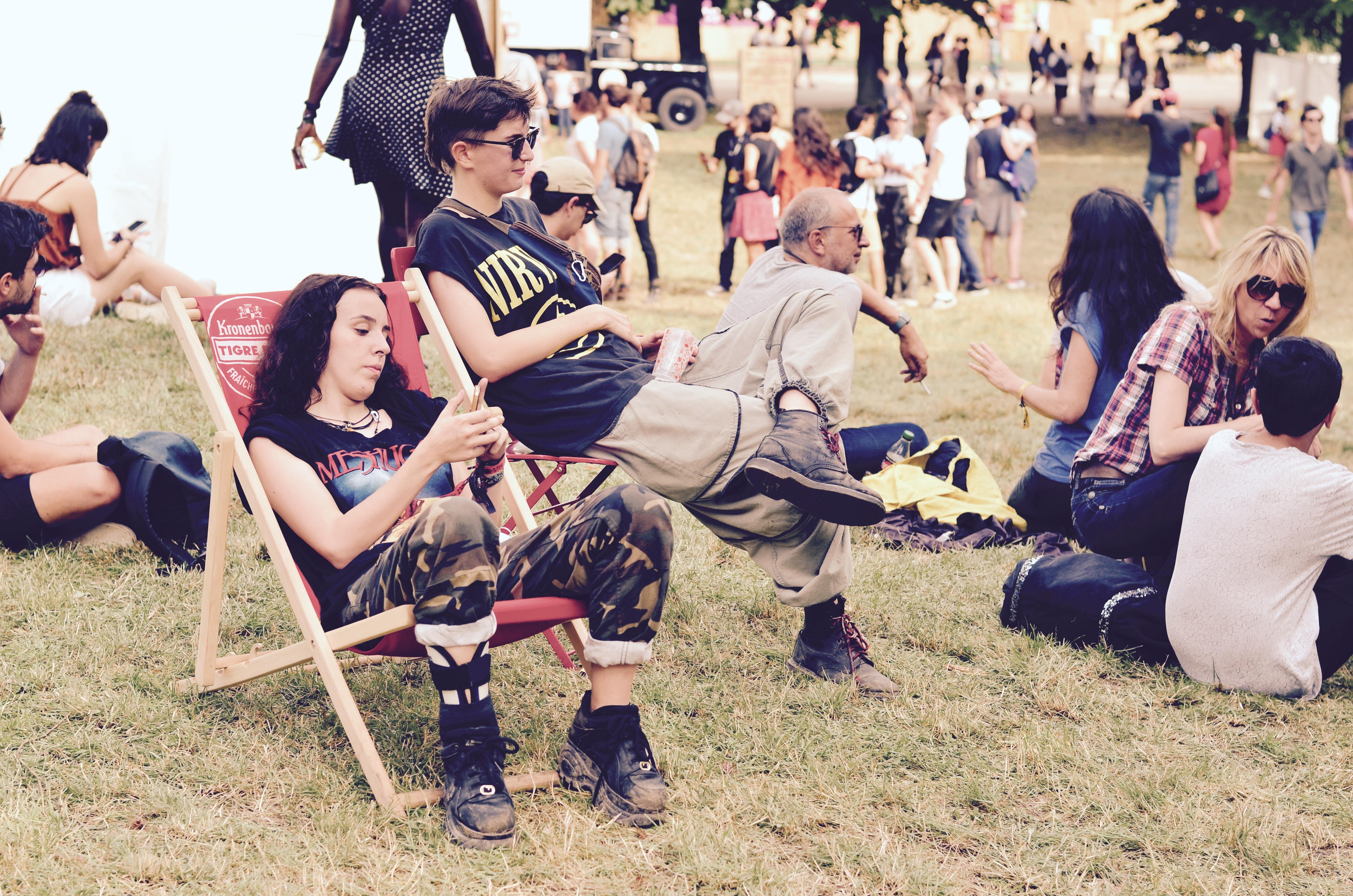 Festivaliers Rock en Seine 2017 Dandys Punks