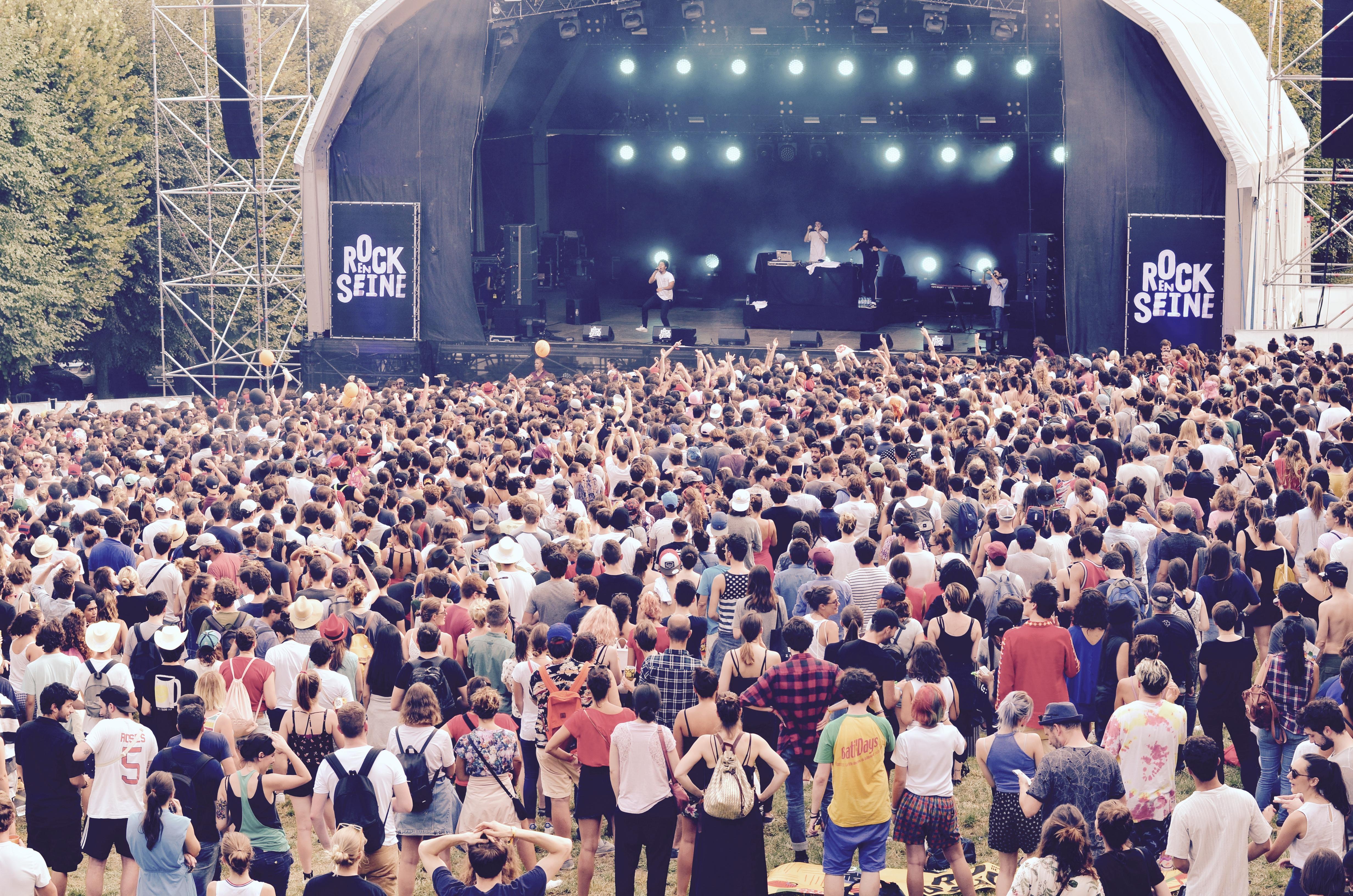 Festivaliers Rock en Seine 2017 Scène du bosquet