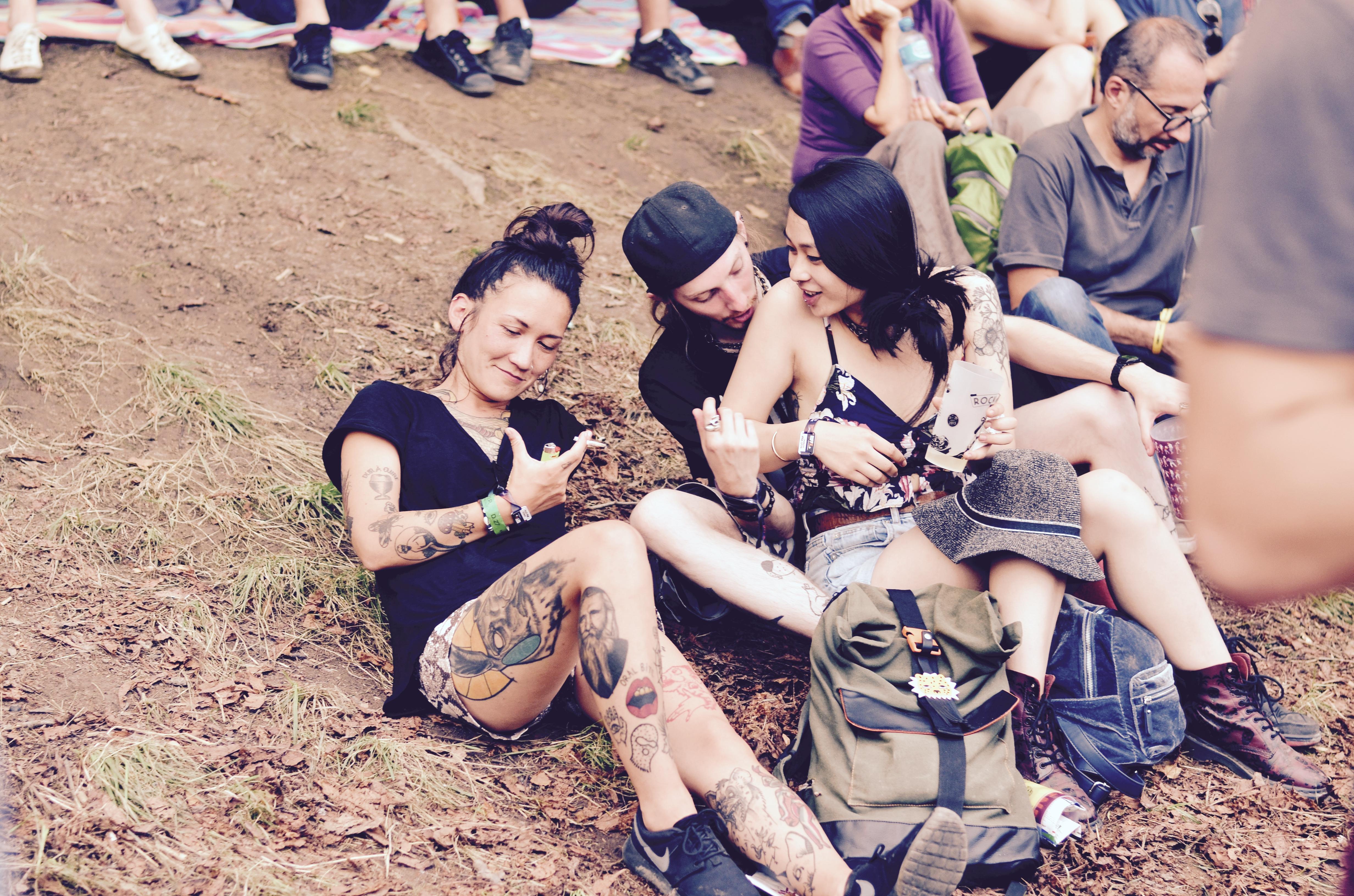 Festivaliers Rock en Seine 2017 chill tatoué