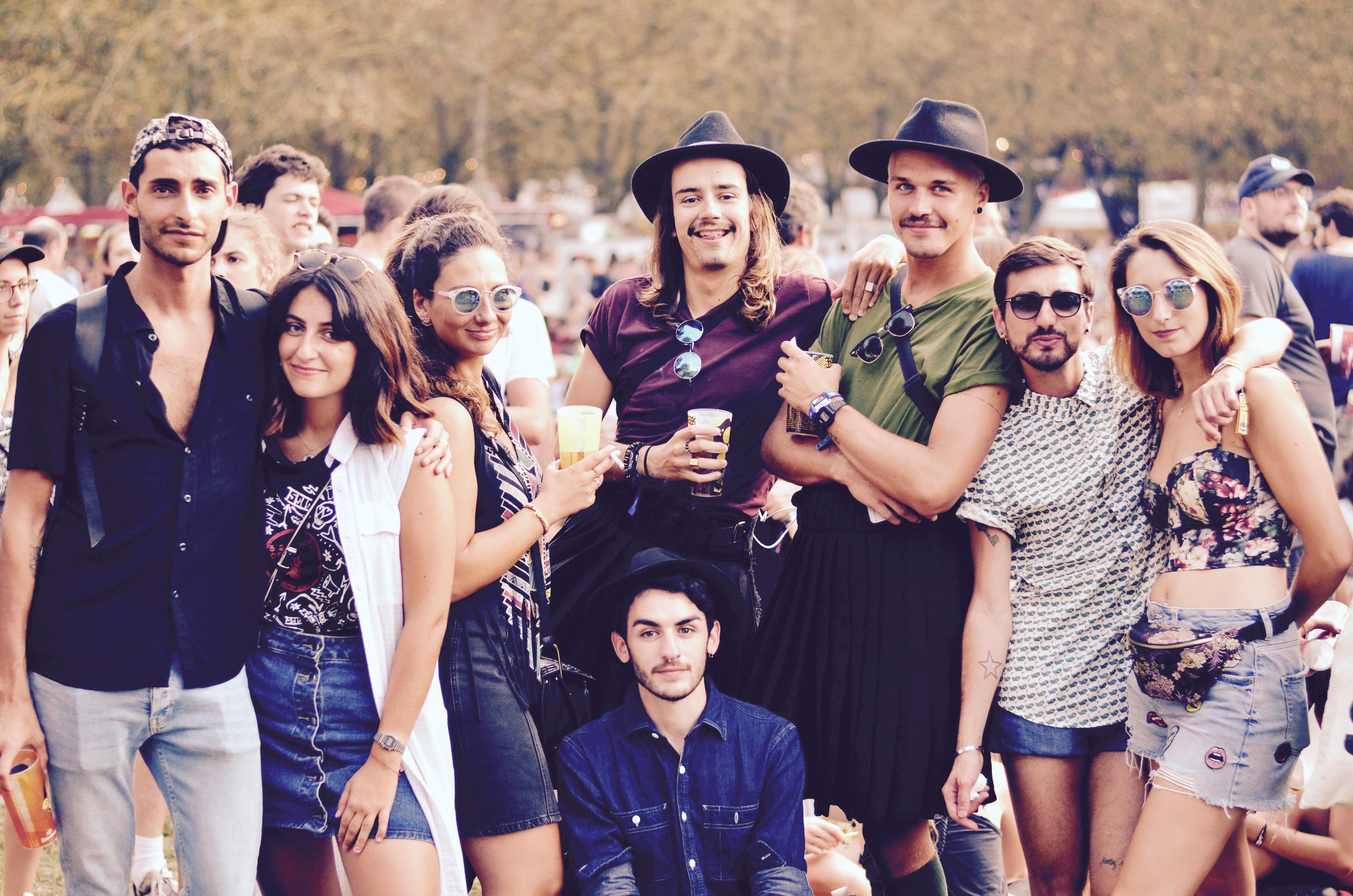 Festivaliers Rock en Seine 2017 bande de potes
