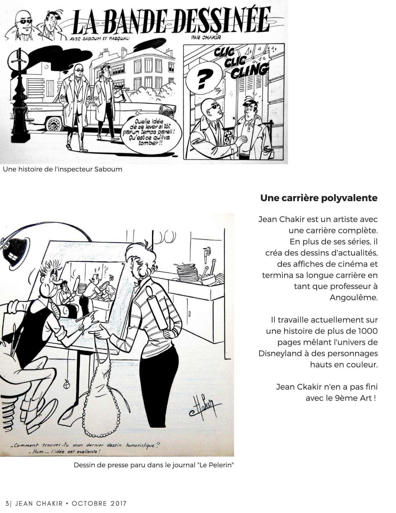 vie de Jean Chakir galerie Art-Maniak 2017