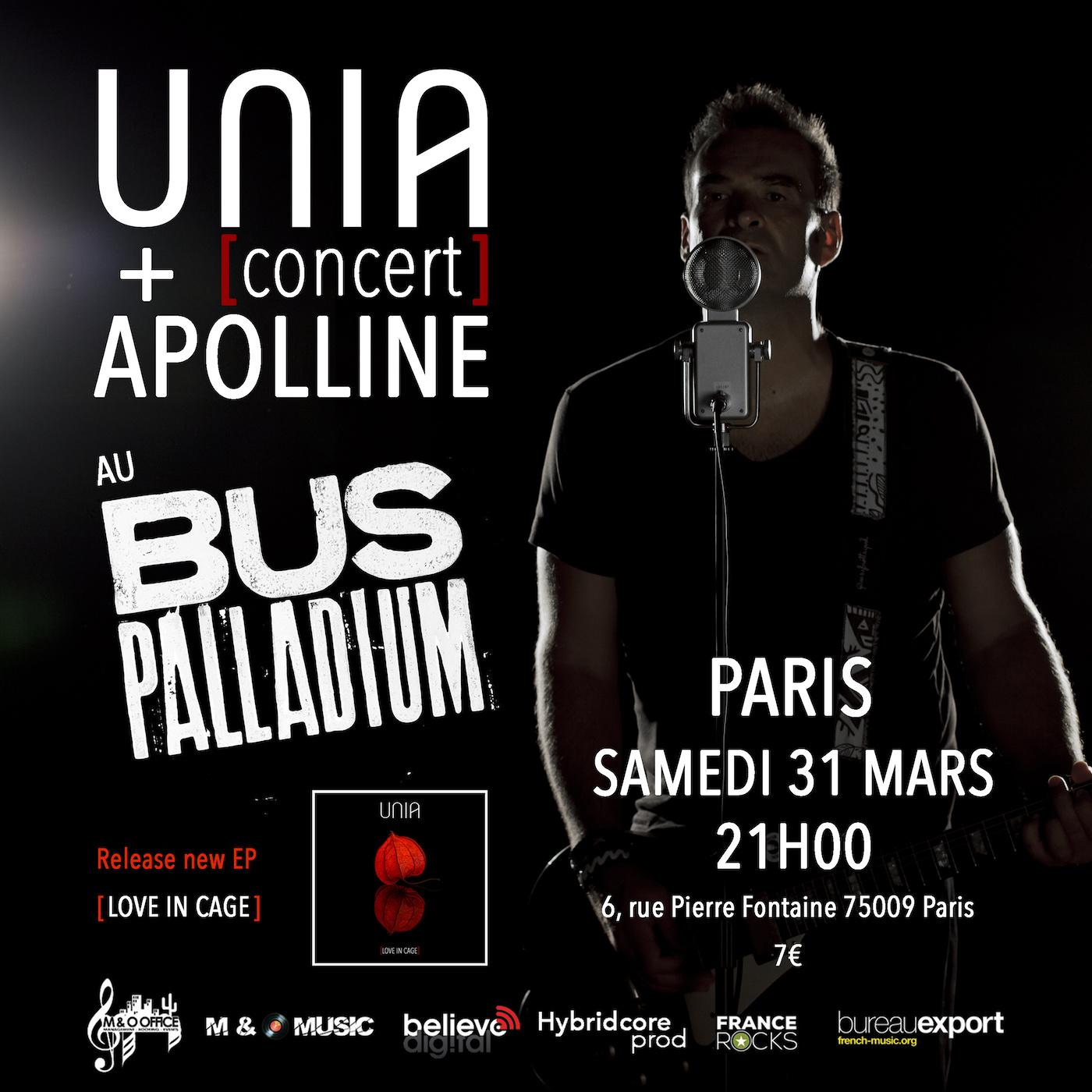 Concert Unia Bus Palladuim Paris 2018