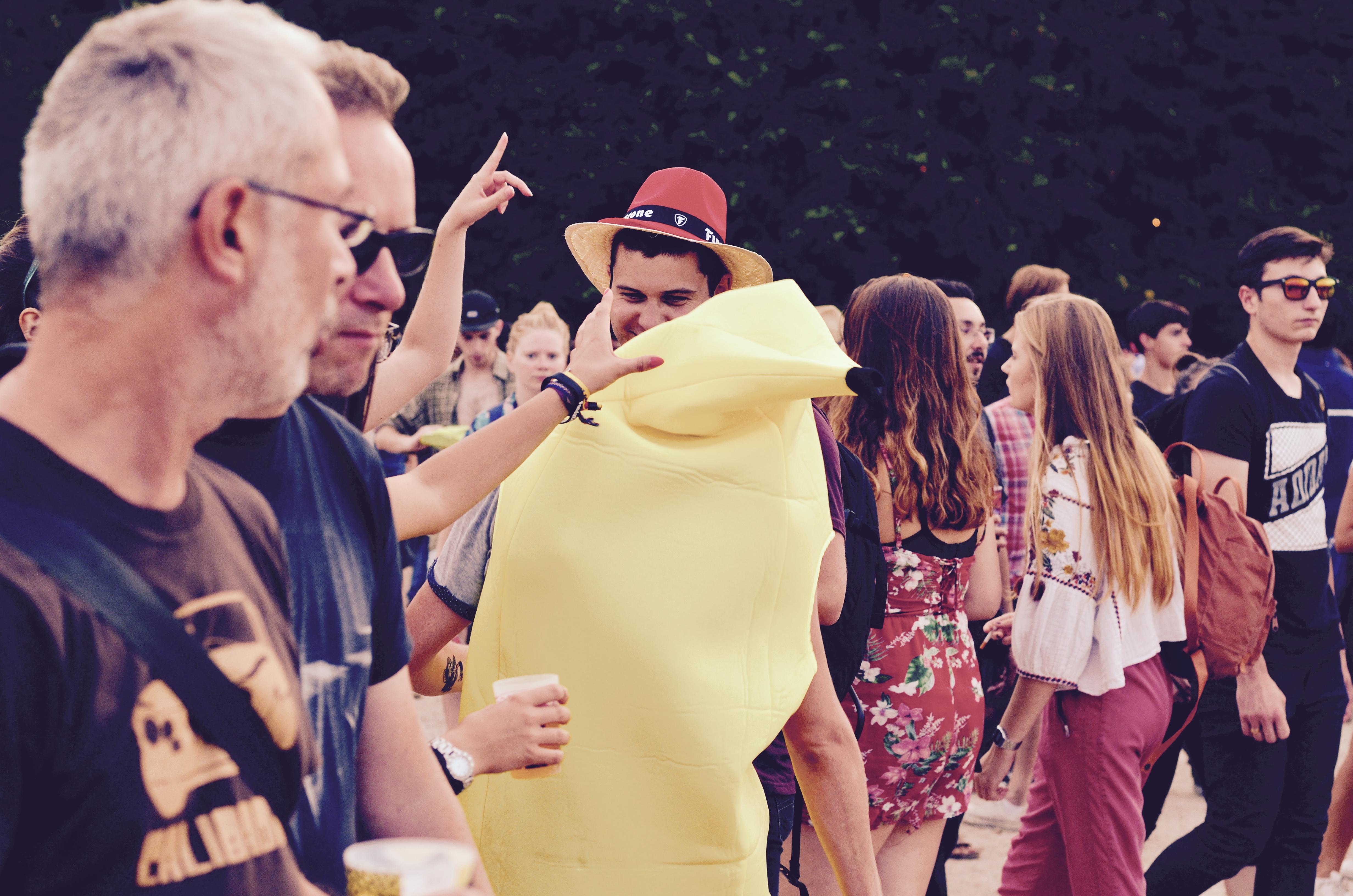 Festivaliers Rock en Seine 2017 - Banane