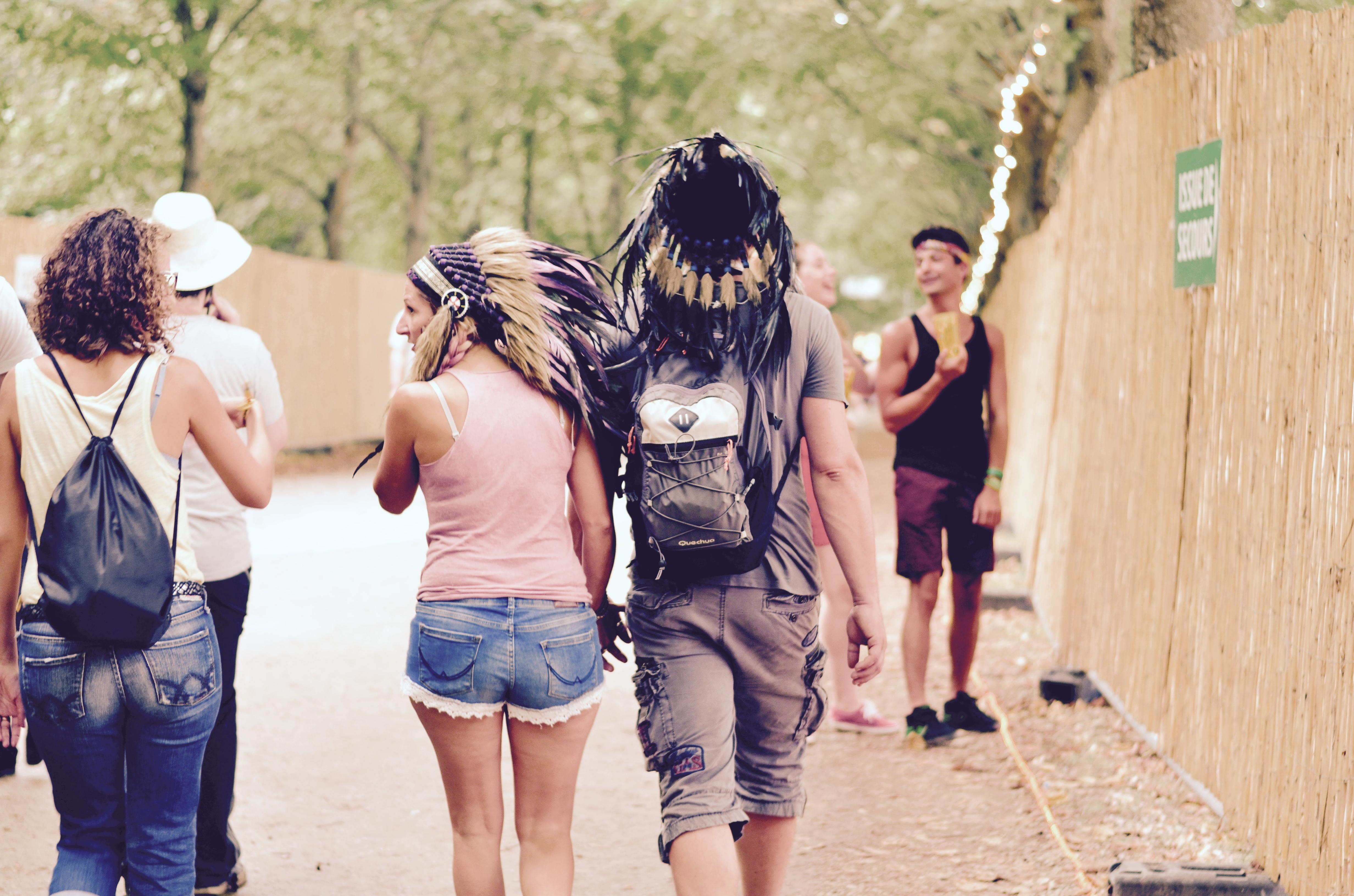 Festivaliers Rock en Seine 2017 des indiens dans la ville