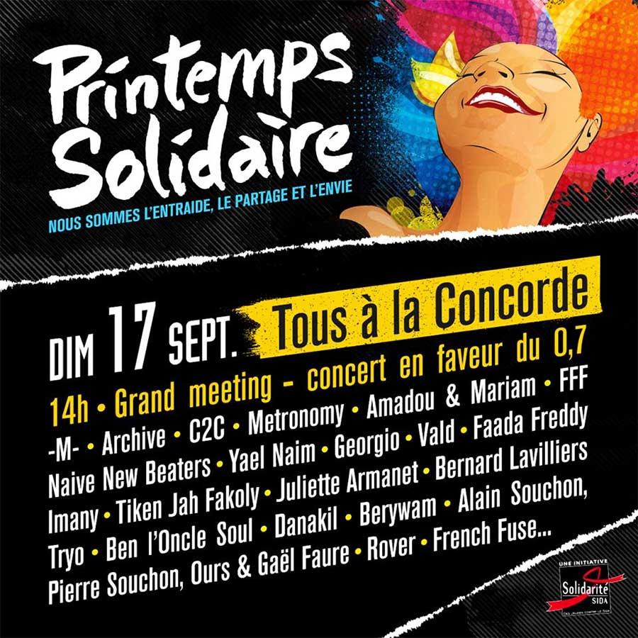 Affiche Printemps Solidaire 2017