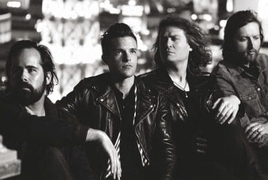 "Brandon Flowers, David Brent « Dave » Keuning, Mark Stoermer et Ronald ""Ronnie"" Vannucci Jr The killers band"