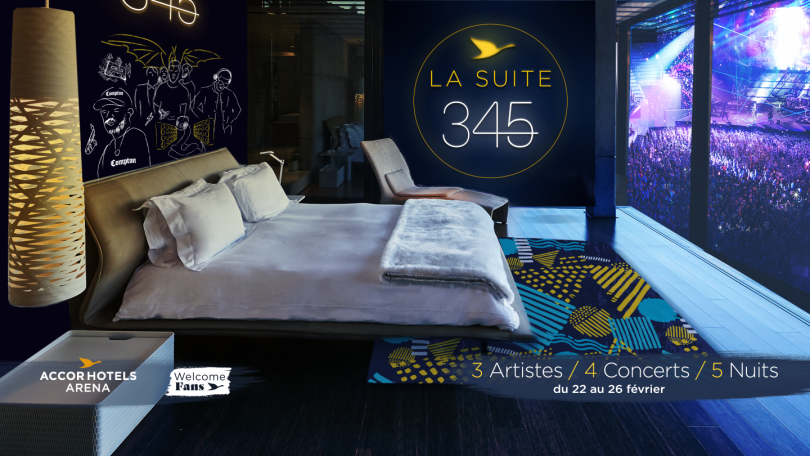 L'AccorHotels Arena et sa suite 345