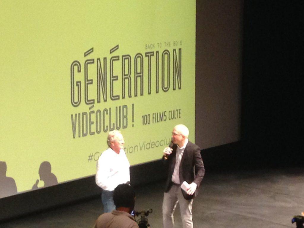 """Richard Darbois et Yoann Sardet lors de la présentation de """" Back to the 80's Génération Vidéoclub!"""" au Forum des Halles"""