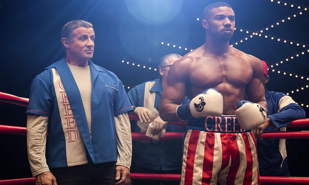 Adonis Creed ( Michael B. Jordan ) et Rocky Balboa ( Sylvester Stallone) en route pour un dernier combat<br /> © 2018 Metro-Goldwyn-Mayer Pictures Inc. and Warner Bros. Entertainment Inc. All Rights Reserved