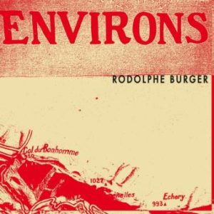 RODOLPHE BURGER - Environs top album 2020